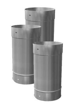 8'' X 12'' Homeowners Choice 24 Gauge Stainless Steel Chimney Liner