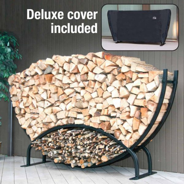 8 ft. Half Moon Log Rack with Free Cover 1