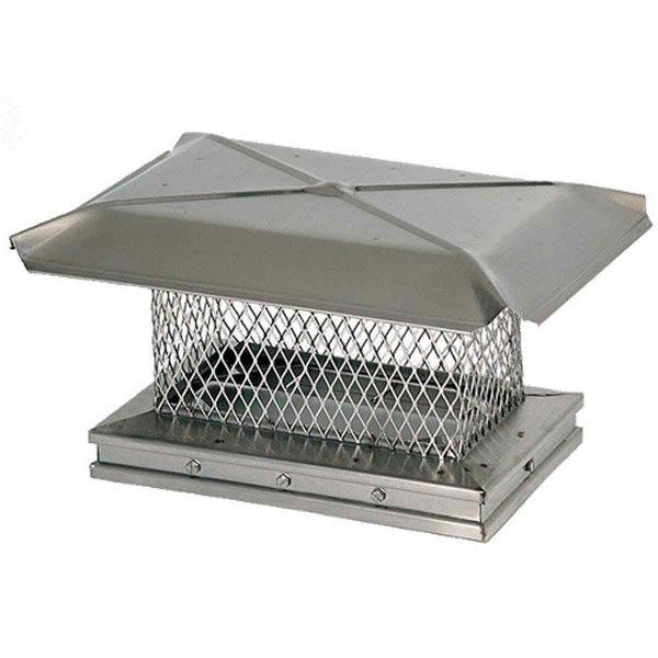 8'' x 19'' Gelco Stainless Steel Chimney Cap - 13306