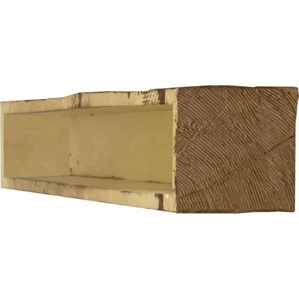 "8""H x 12""D x 84""W Hand Hewn Faux Wood Fireplace Mantel, Persian Walnut 3"