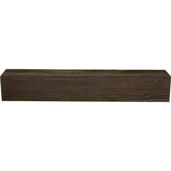 """8""""H x 8""""D x 72""""W Sandblasted Faux Wood Fireplace Mantel, Walnut Stain 1"""