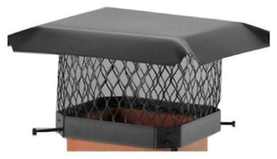 "9"" x 9"" Shelter Black Steel Chimney Cover"