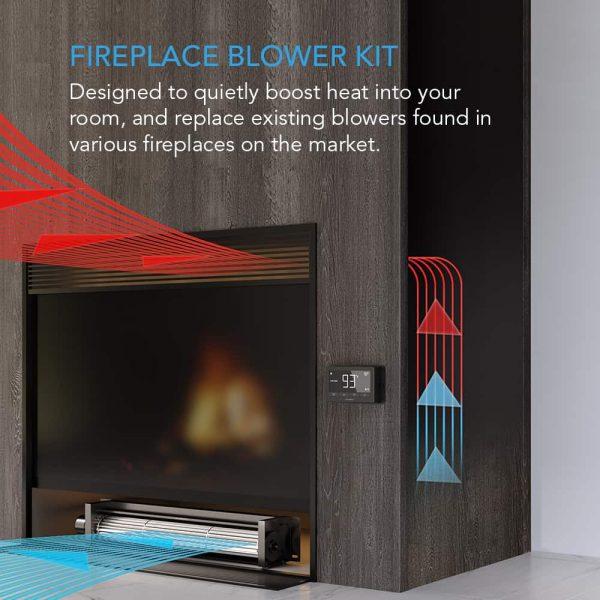 Universal Fireplace Blower Fan Kit