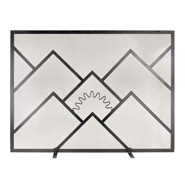 ACHLA Sunrise Single Panel Fireplace Screen 1