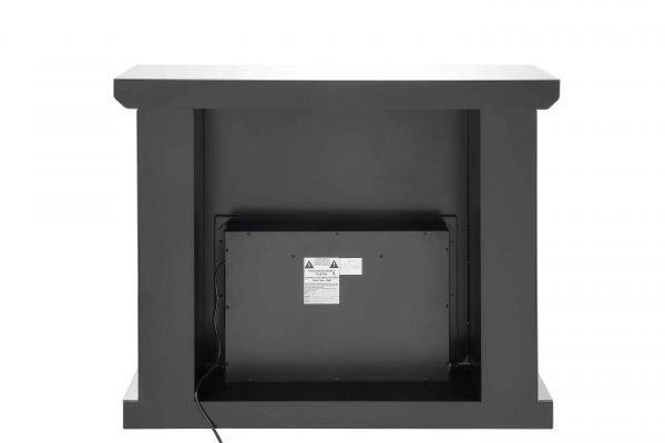ACME Dominic Free Standing Mirrored Fireplace with Remote Control 2