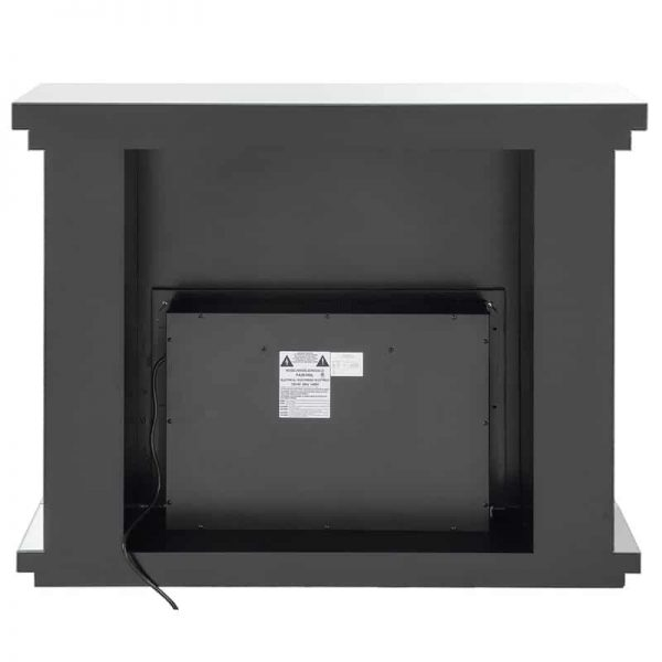 ACME Nyasia Mirrored Fireplace with Faux Crystals and Remote Control 6