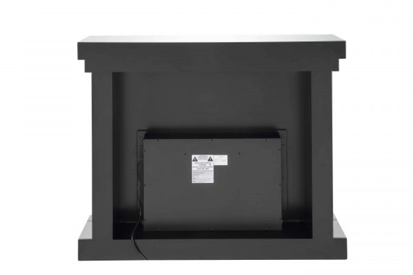 ACME Nyomi Mirrored Fireplace with Faux Crystals and Remote Control 3