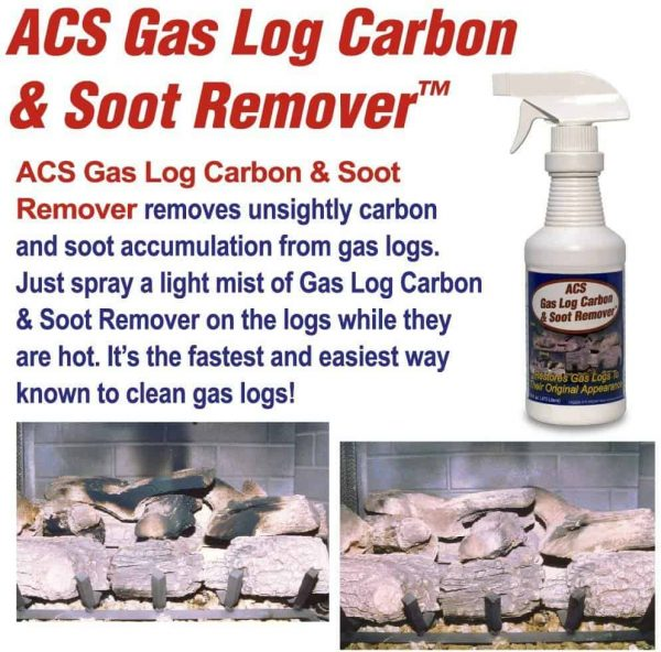 ACS Gas Log Cleaner Removes Carbon and Soot From Fireplace Gas Logs | 1 Pint - 16oz. Spray Bottle 2