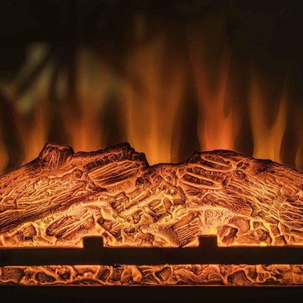 "AKDY FP0095 27"" Electric Fireplace Freestanding Brown Wooden Mantel Firebox Heater 3D Flame w/ Logs 1"