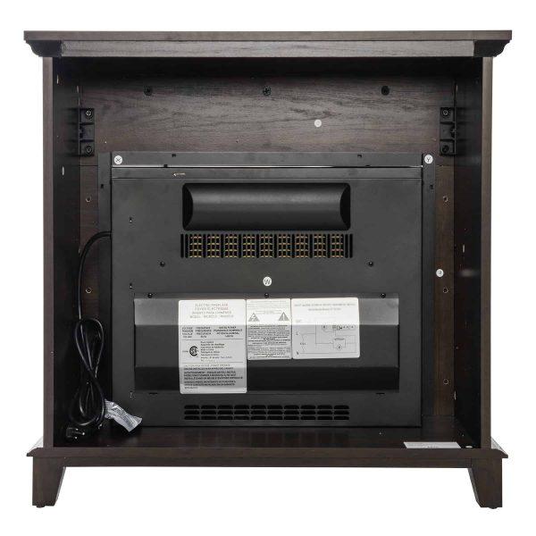 "AKDY FP0095 27"" Electric Fireplace Freestanding Brown Wooden Mantel Firebox Heater 3D Flame w/ Logs 8"