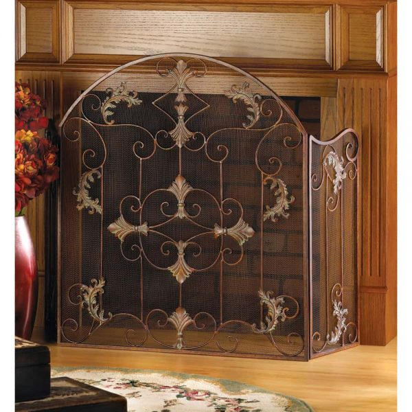 Accent Plus Florentine Decorative Metal Fireplace Screen 1