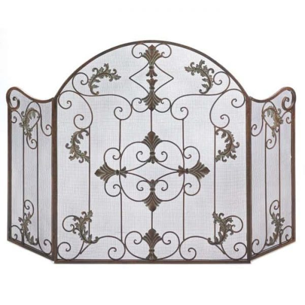 Accent Plus Florentine Decorative Metal Fireplace Screen