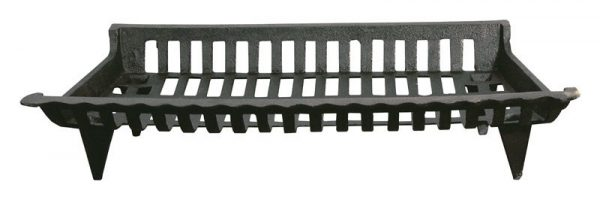 "Ace Fireplace Grate Cast Iron 30 "" W Black"