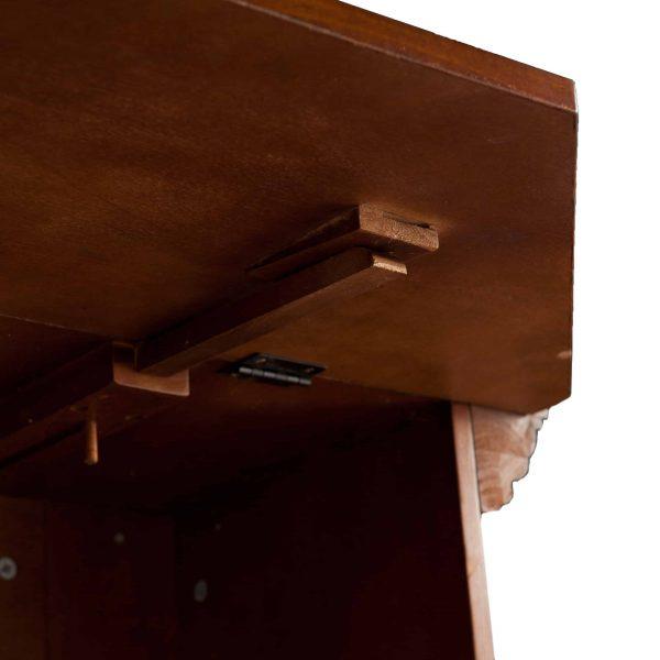 Addao Smart Convertible Fireplace w/ Faux Stone - Buckeye Oak 1