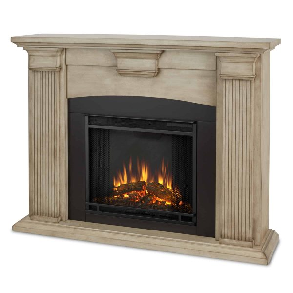 Adelaide Electric Fireplace in Dry Brush White by Real Flame 1