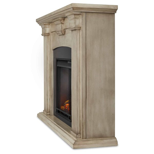 Adelaide Electric Fireplace in Dry Brush White by Real Flame 2
