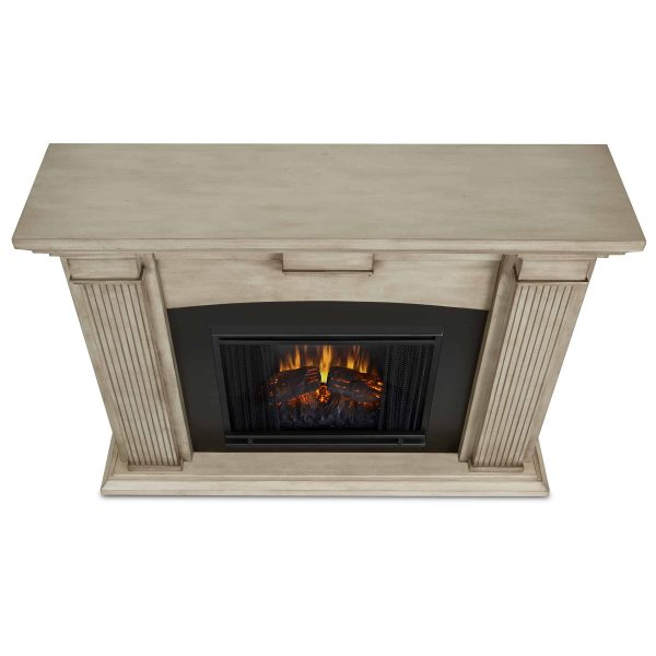 Adelaide Electric Fireplace in Dry Brush White by Real Flame 3