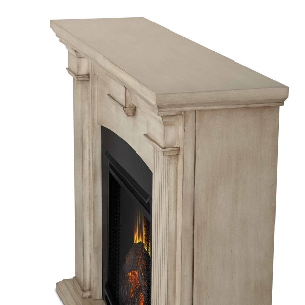 Adelaide Electric Fireplace in Dry Brush White by Real Flame 4