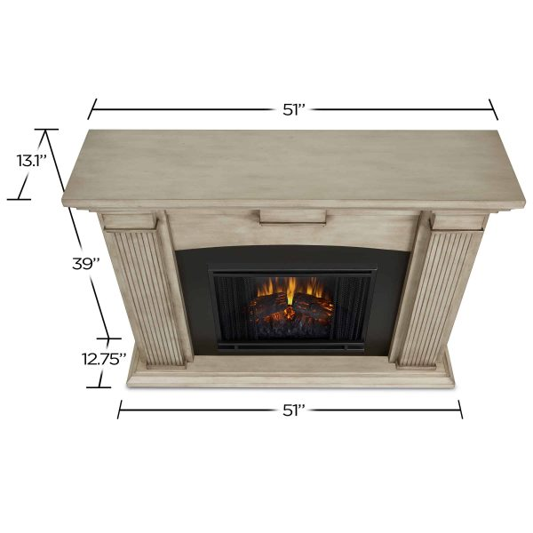 Adelaide Electric Fireplace in Dry Brush White by Real Flame 5