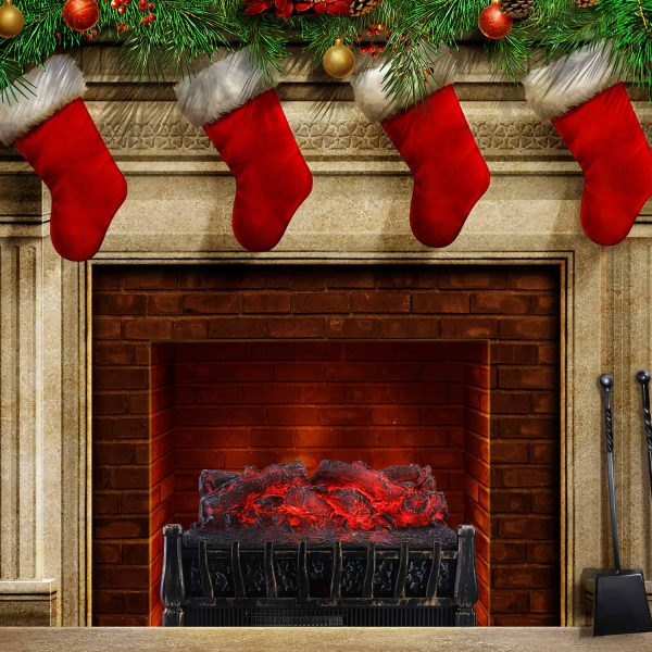 Ainfox Electrical Log Set Fireplace Stove Heater