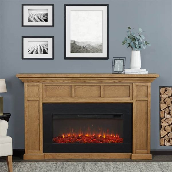 Alcott Landscape Electric Fireplace by Real Flame 1