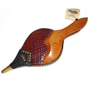 Aligator Print Leather Bellows