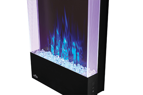Allure 38-inch Vertical Wall Mount Electric Fireplace 2