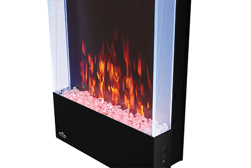 Allure 38-inch Vertical Wall Mount Electric Fireplace 3