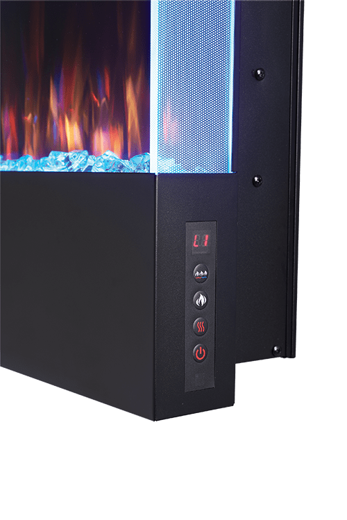 Allure 38-inch Vertical Wall Mount Electric Fireplace 4