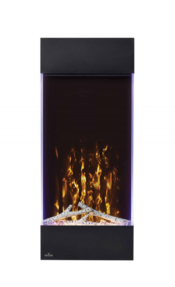 Allure 38-inch Vertical Wall Mount Electric Fireplace