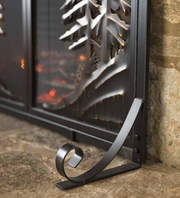 Alpine Large Heavy Duty Steel Fireplace Fire Screen with Doors 1