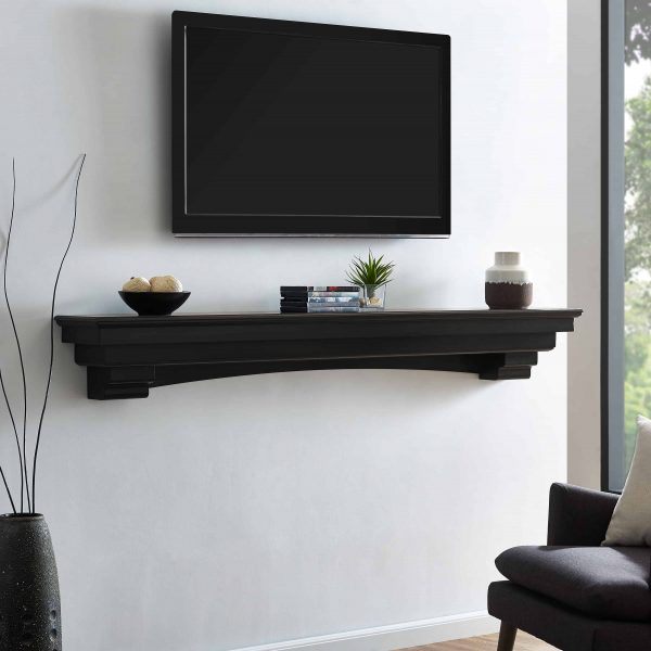 Alvin Fireplace Mantel Shelf, Traditional, Smoked Ash 10