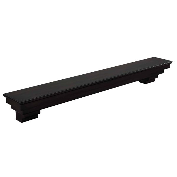 Alvin Fireplace Mantel Shelf, Traditional, Smoked Ash 6