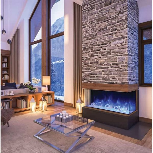 "Amantii 3 Sided 60"" Wide Electric Fireplace 1"