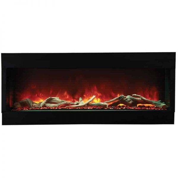 "Amantii 3 Sided 60"" Wide Electric Fireplace 4"