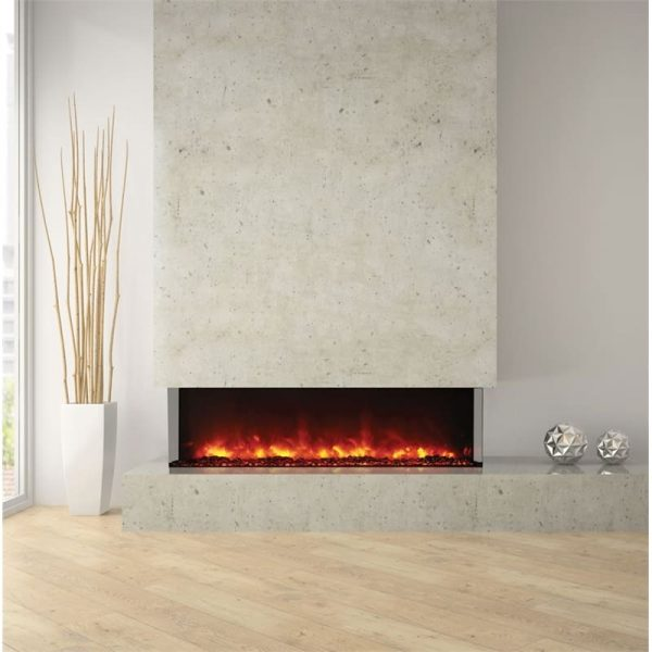 "Amantii 3 Sided 60"" Wide Electric Fireplace 6"