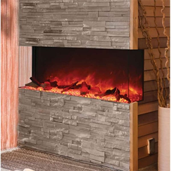 "Amantii 3 Sided 60"" Wide Electric Fireplace"