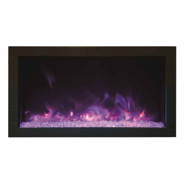 """Amantii 30"""" Extra Slim Indoor or Outdoor Electric Fireplace 1"""