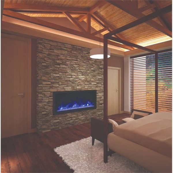 "Amantii 50"" Wide Deep Indoor or Outdoor Electric Fireplace 1"