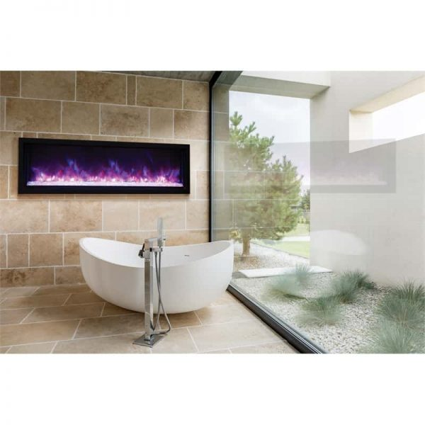 "Amantii 60"" Extra Slim Indoor or Outdoor Electric Fireplace"