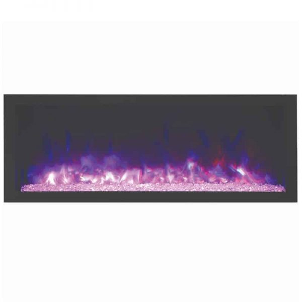 "Amantii 60"" Wide Deep Indoor or Outdoor Electric Fireplace 2"