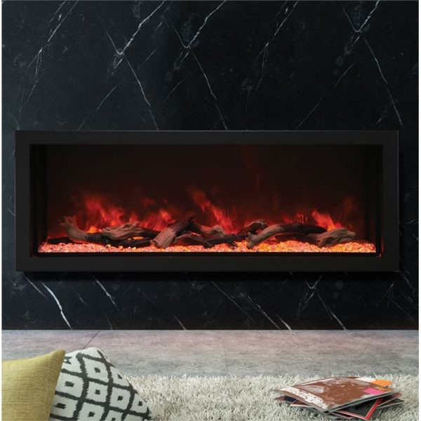 "Amantii 60"" Wide Deep Indoor or Outdoor Electric Fireplace"