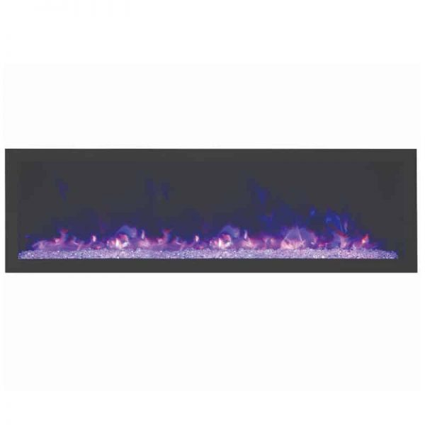"Amantii 72"" Wide Deep Indoor or Outdoor Electric Fireplace 1"