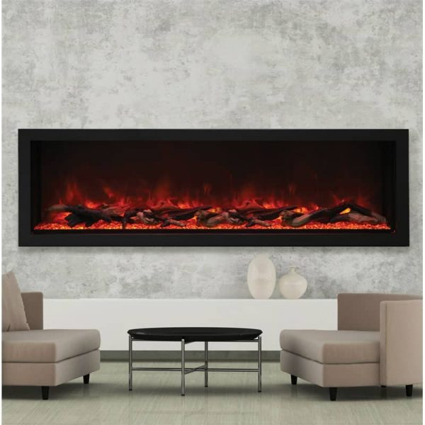 "Amantii 72"" Wide Deep Indoor or Outdoor Electric Fireplace"
