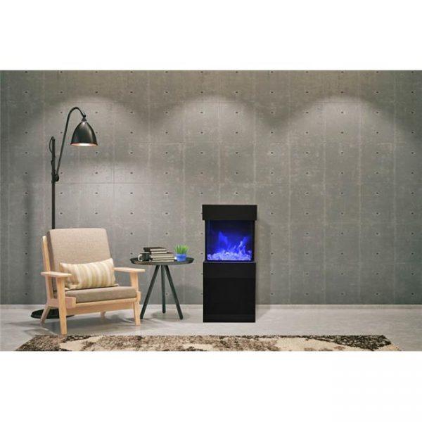 Amantii CUBE-2025WM 11.75 x 25 in. 3 Sided Glass Fireplace