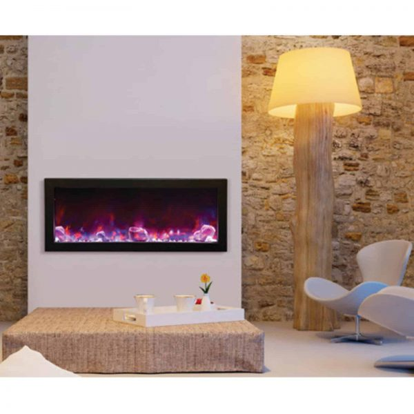 Amantii Panorama Deep Electric Wall Mount Fireplace with Black Surround 1