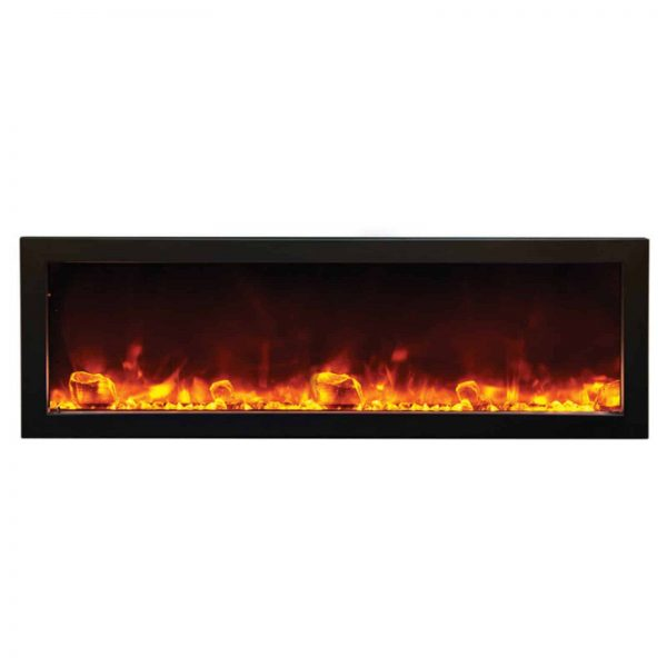 Amantii Panorama Deep Electric Wall Mount Fireplace with Black Surround