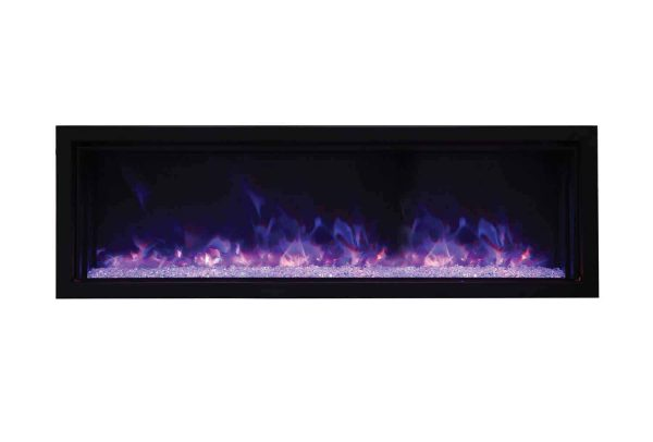 Amantii Panorama Indoor/Outdoor Extra Slim Built In Electric Fireplace