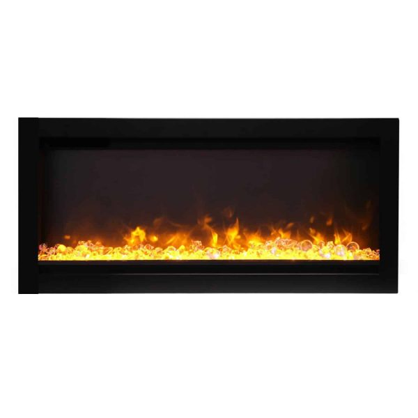 Amantii Symmetry Series 34-Inch Built-In Electric Fireplace with Black Steel Surround 1