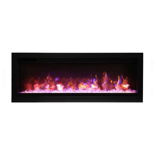 Amantii Symmetry Series 42-Inch Built-In Electric Fireplace with Black Steel Surround 1